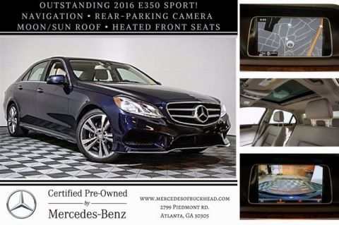 Certified Pre-Owned 2016 Mercedes-Benz E 350 Sport Rear Wheel Drive SEDAN