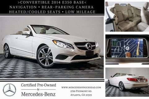 Certified Pre-Owned 2014 Mercedes-Benz E 350 Rear Wheel Drive CABRIOLET